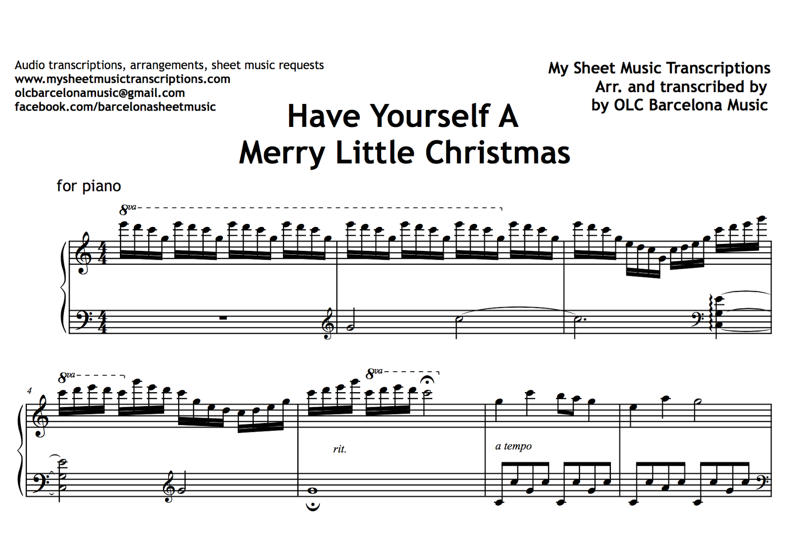 have yourself a merry little christmas sheet music pdf