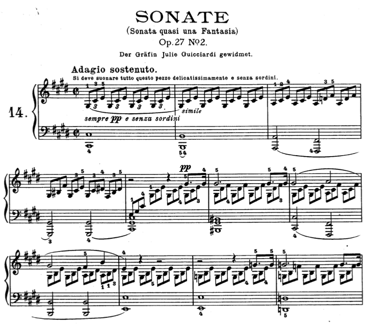 Moonlight Sonata (Beethoven) Sheet Music And Midi File