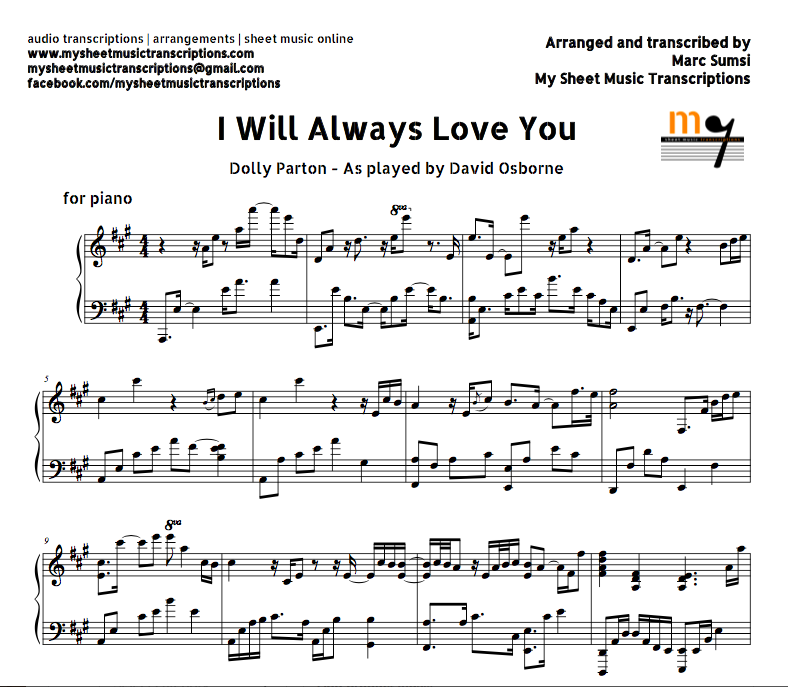 I Will Always Love You (Dolly Parton) Sheet Music And Midi