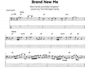 Bass and guitar tab sample - sheet music transcriptions