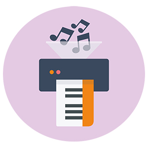Music transcription service - Print your pdf sheet