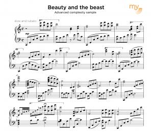 Advanced sheet music sample - My sheet music transcriptions