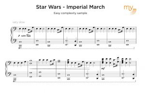 easy sample sheet transcription - star wars