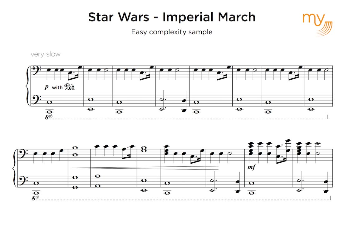 easy sample sheet transcription - star wars