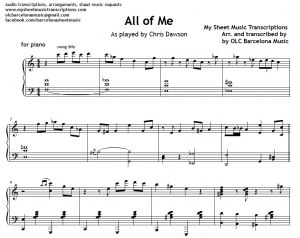 All of me - Jazz piano solo