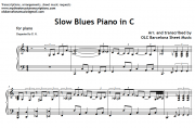 Slow Blues in C piano sheet music