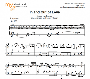 In and Out of Love - Van Buuren - sheet music pdf