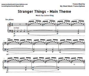 Stranger things - Lucas king sheet music