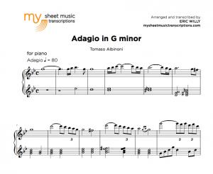 Adagio in G minor - Tomaso Albinoni sheet music