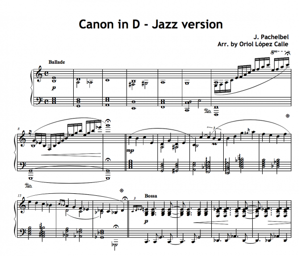 CANON IN D JAZZ version