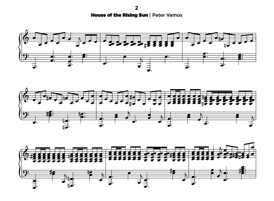 house of the rising sun lead sheet