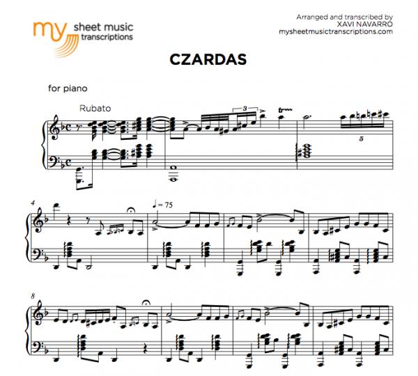Czardas - Monti sheet music