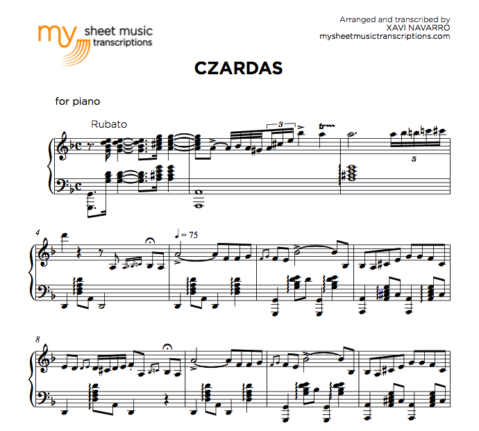Czardas - Monti sheet music