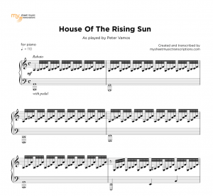 Piano Blues Chicago Style | sheet music ( pdf) • My Sheet