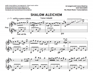 Shalom Aleichem - traditional jewish song for piano