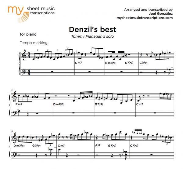 32 bars of Cminor jazz piano solo