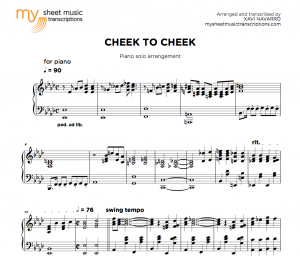 Jazz piano sheet music • My Sheet Music Transcriptions