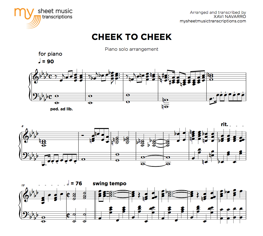 Cheek To Cheek - Irving Berlin