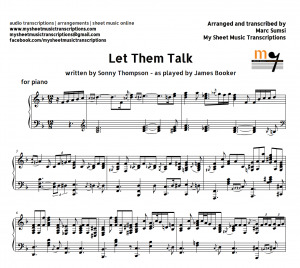 LET THEM TALK (Sonny Thompson) as played by James Booker