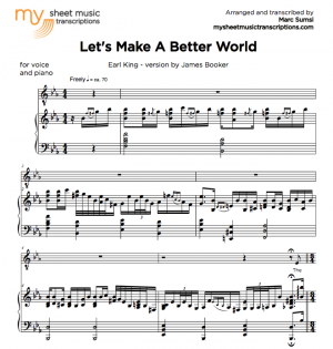 LET'S MAKE A BETTER WORLD (Earl King) version by James Booker