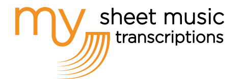 My Sheet Music Transcriptions - accurate music services