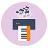 Print - Music transcription service