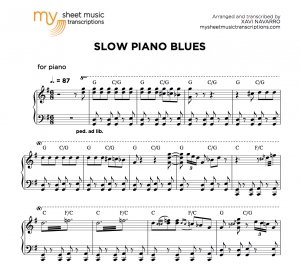 Slow piano Blues in G