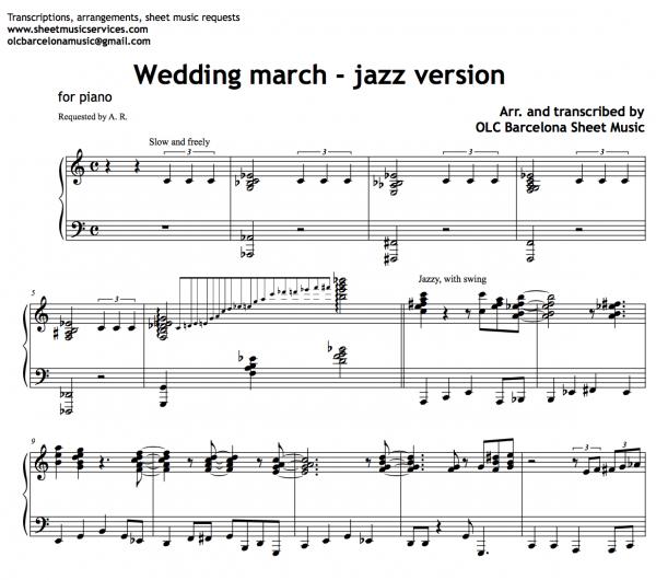 Wedding march jazz version