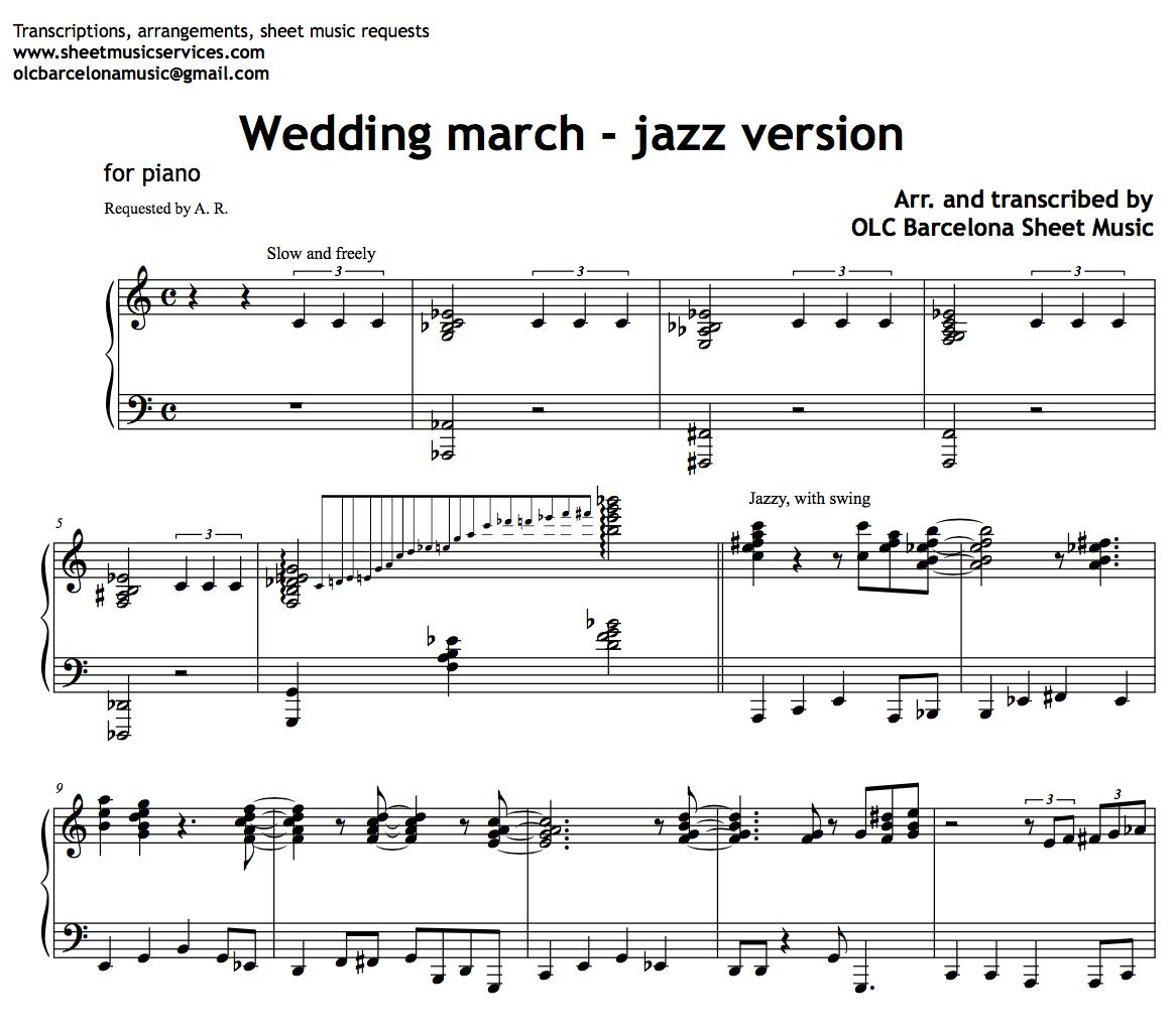 Wedding March - Jazz Version