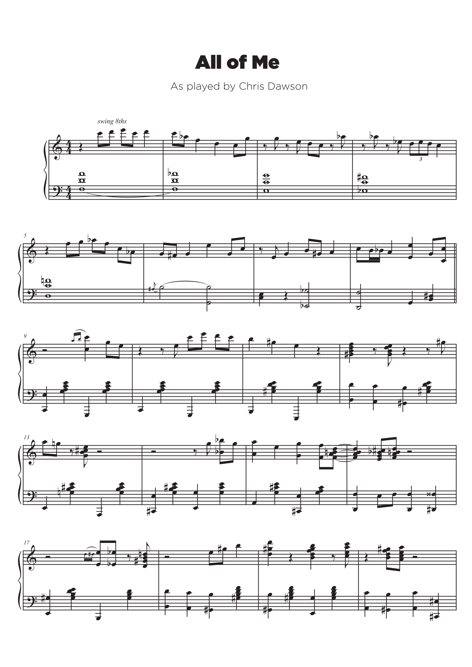 Piano jazz solo sample