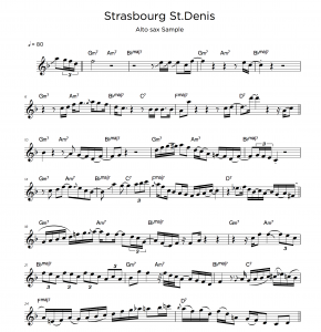 Alto Saxo Sample sheet music