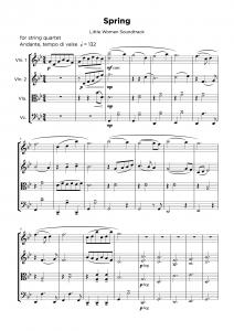 Arrangement transcription service - string quartet sample