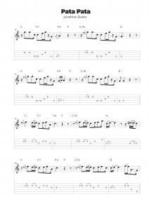 Guitar tab transcription service classical sample