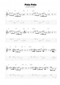Guitar tab transcription service classical sample