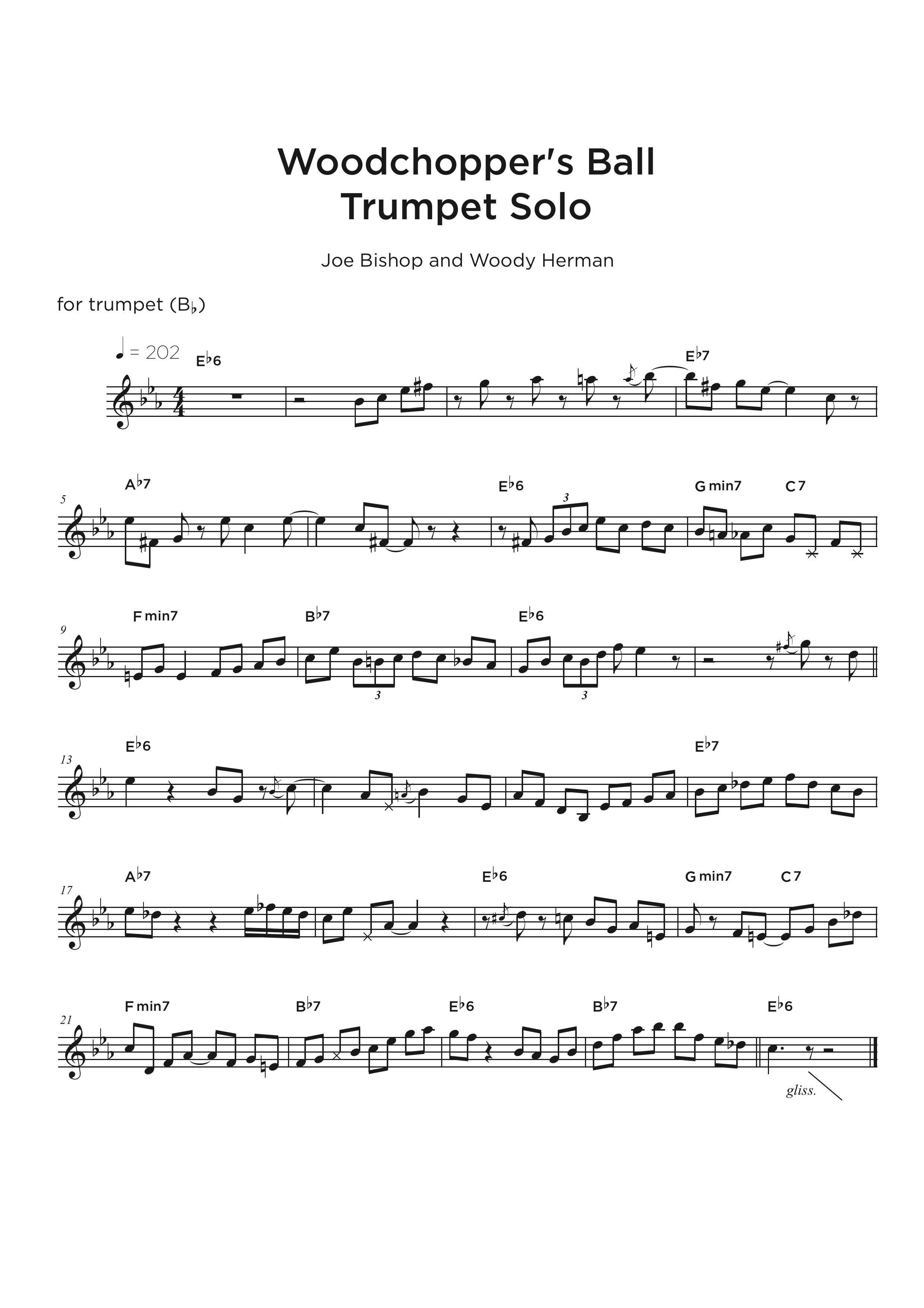 Jazz Transcription - trumpet sample