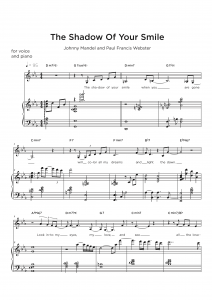 Jazz Transcription - vocal and piano sample