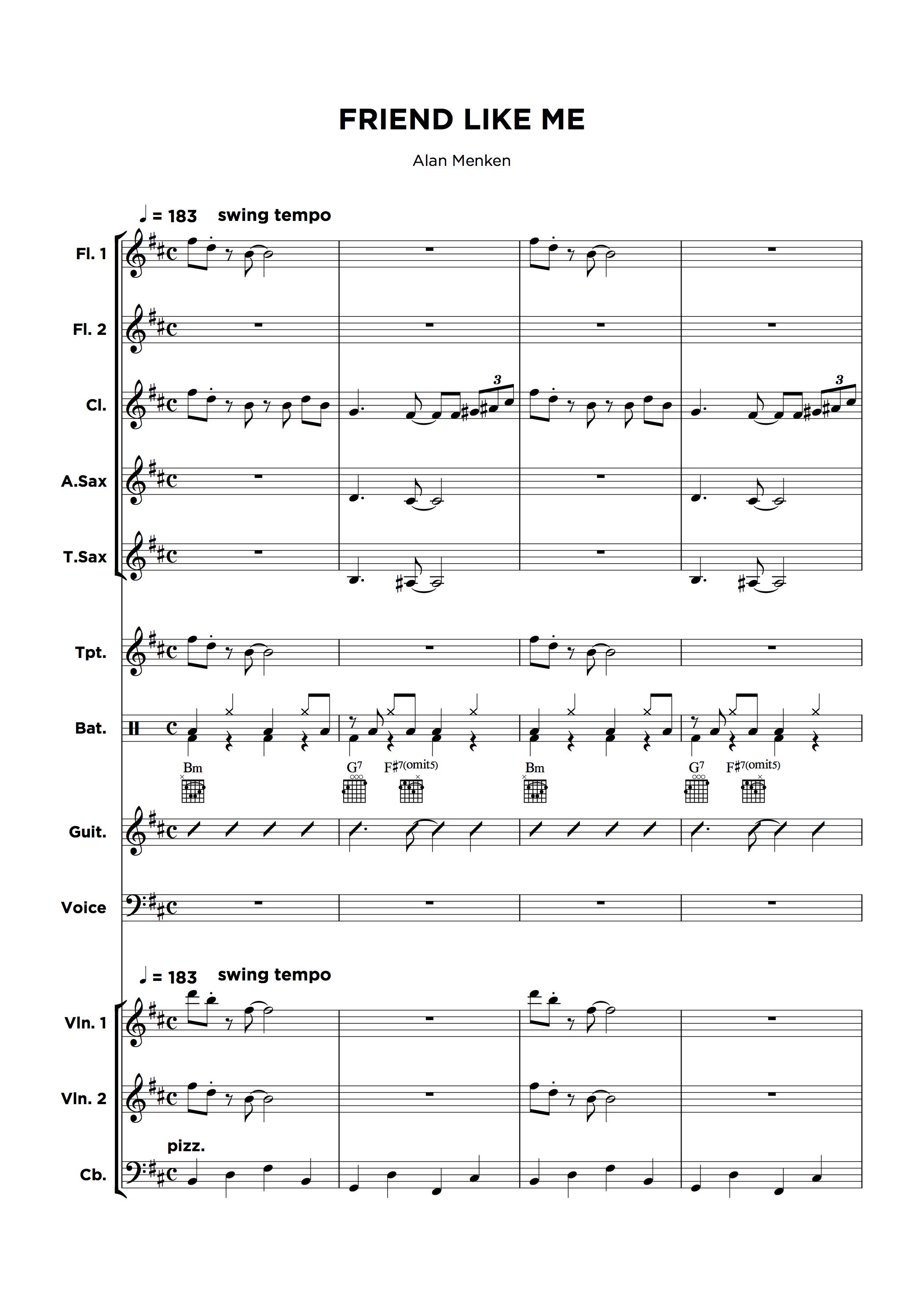 Music Arrangement Service - full ensemble sample