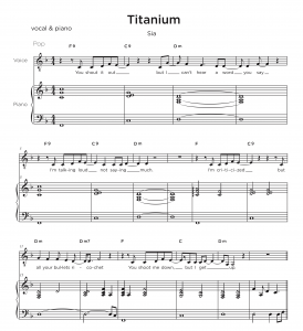 Music Transcription Service pricing - Titanium Sample