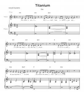Music Transcription Service pricing - Titanium Sample
