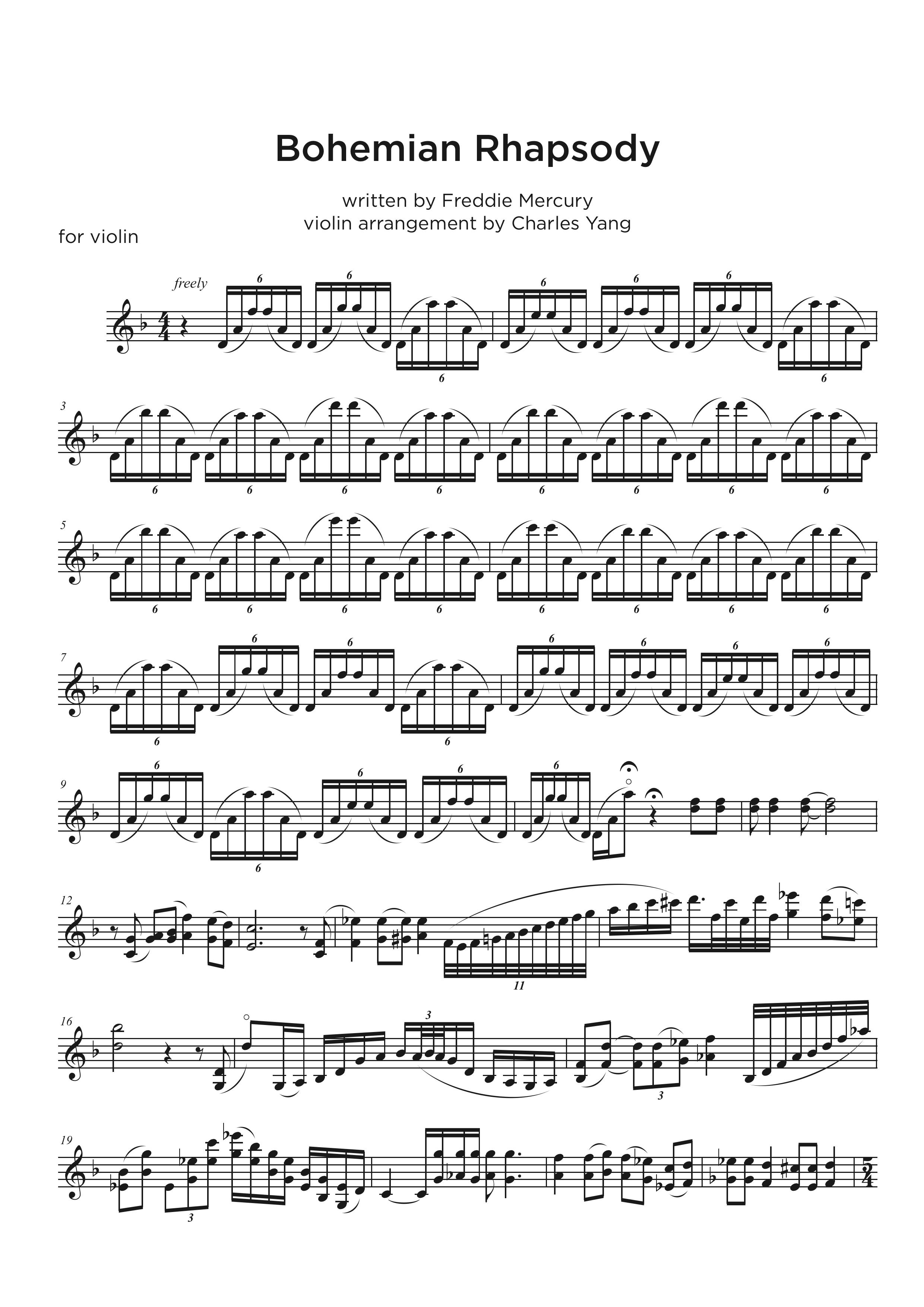 Violin Music Transcription service