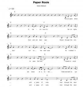 Vocal lead sheet sample