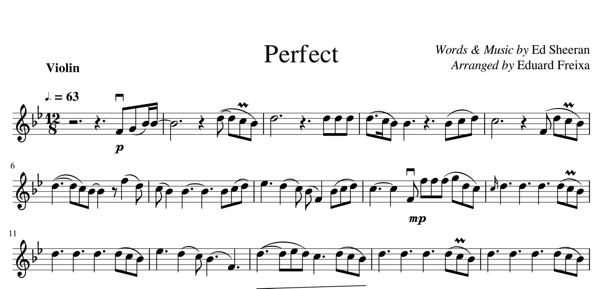 Eduard Freixa Sheet Music Transcriptions