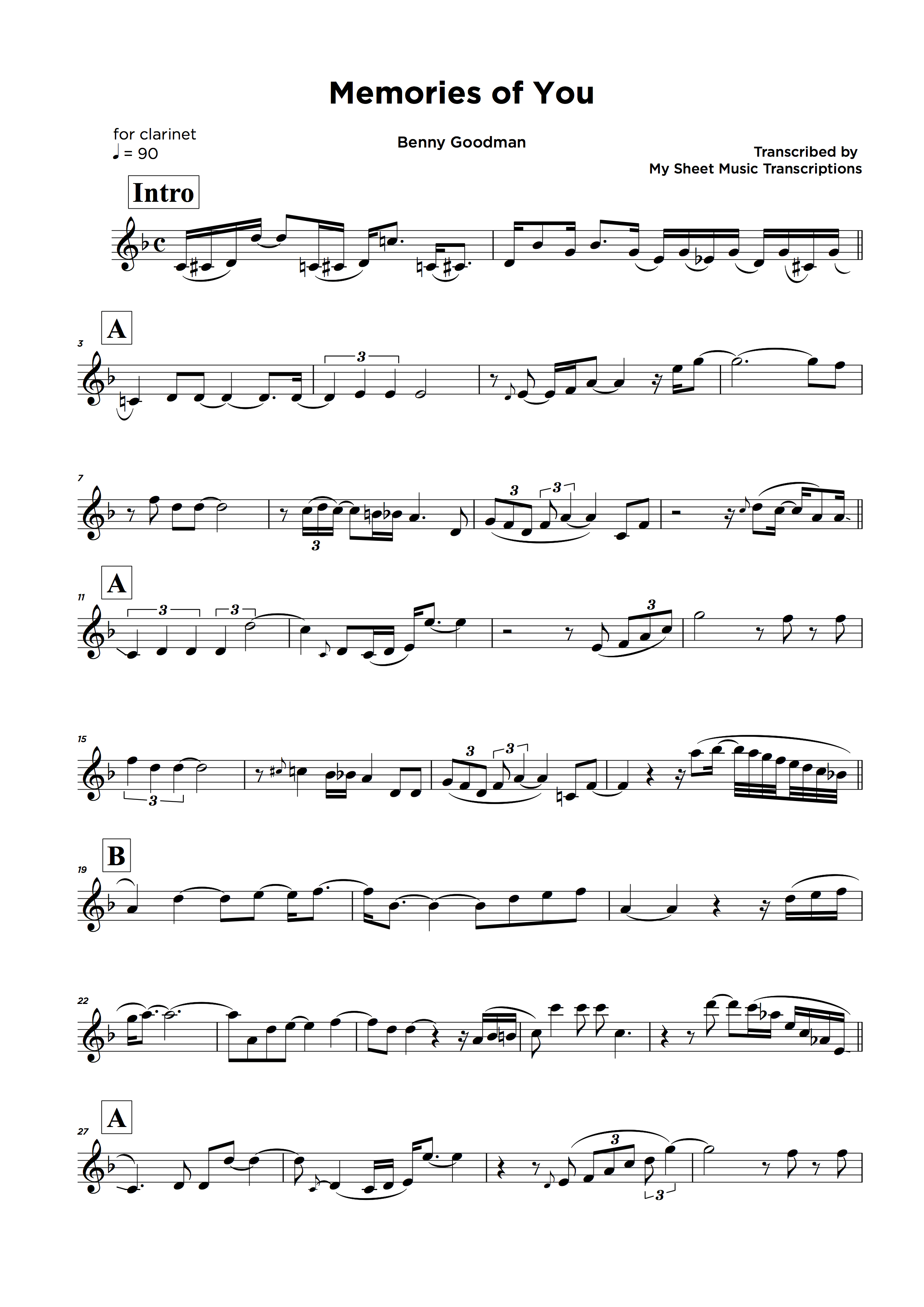 Lead sheet music transcription