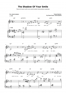 Music Transcription Service Sample - Piano & Vocal