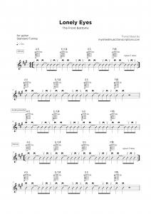 Lonely Eyes - Guitar sheet transcription service