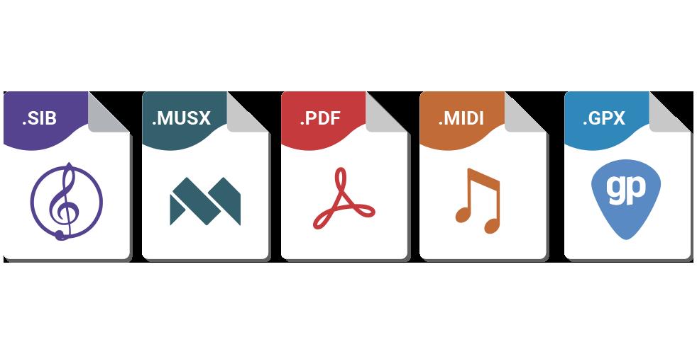 All sheet music formats - Sheet music transcription service