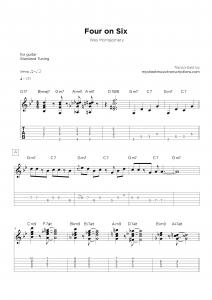 Four on Six - Guitar transcription sheet