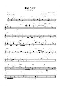 Blue Monk - Mark Taylor sheet music