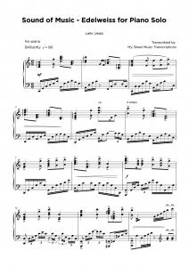 Sound of music - Piano transcription sheet