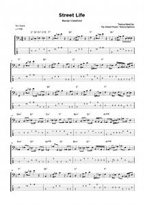 Street Life - Randy Crawford - Bass Solo sheet music